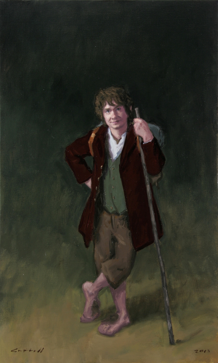 Bilbo,  Oil on Linen, 84 x 51cm, 2013