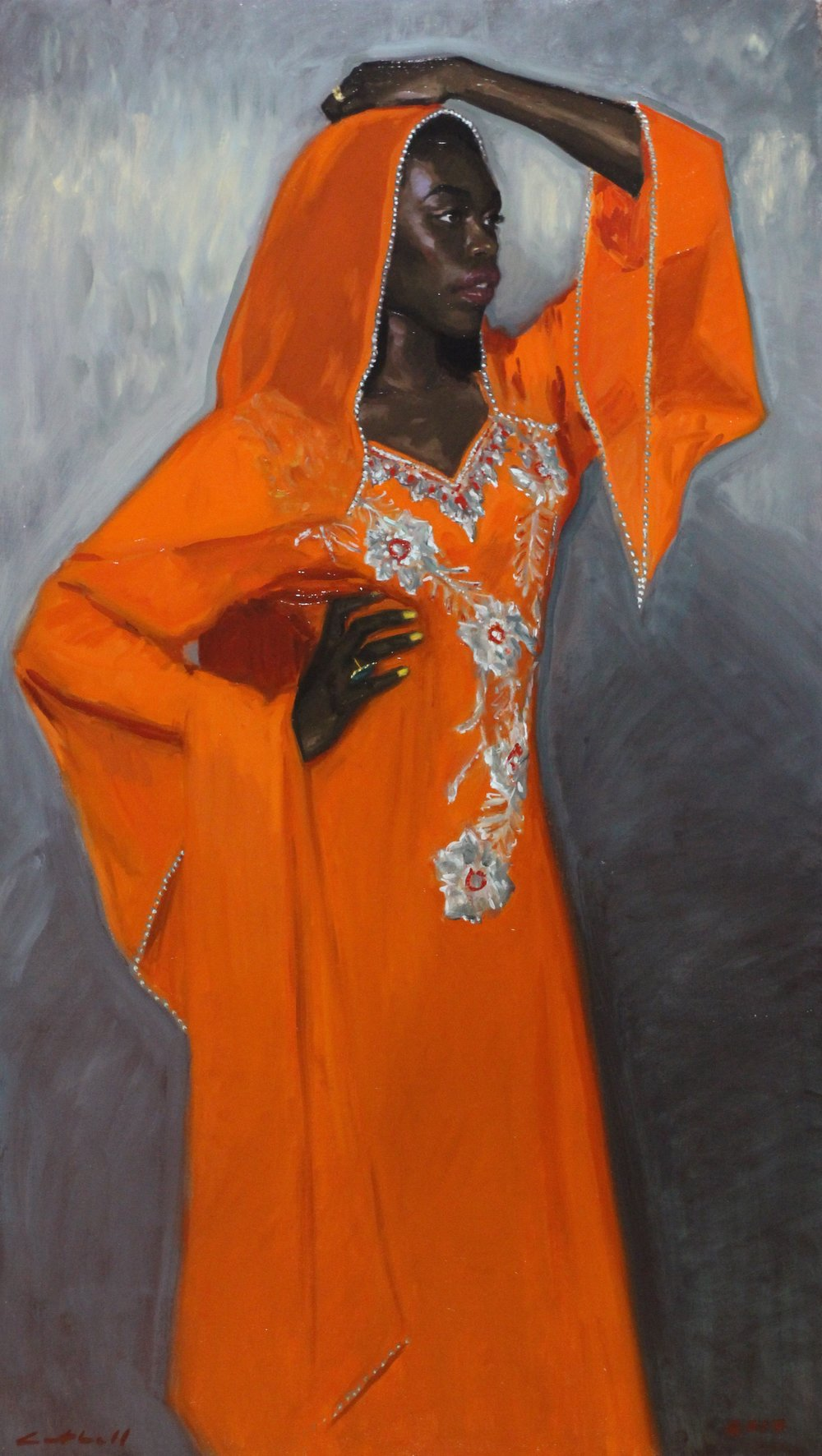 Omotola,  77 x 138cm, Oil on Canvas, 2017