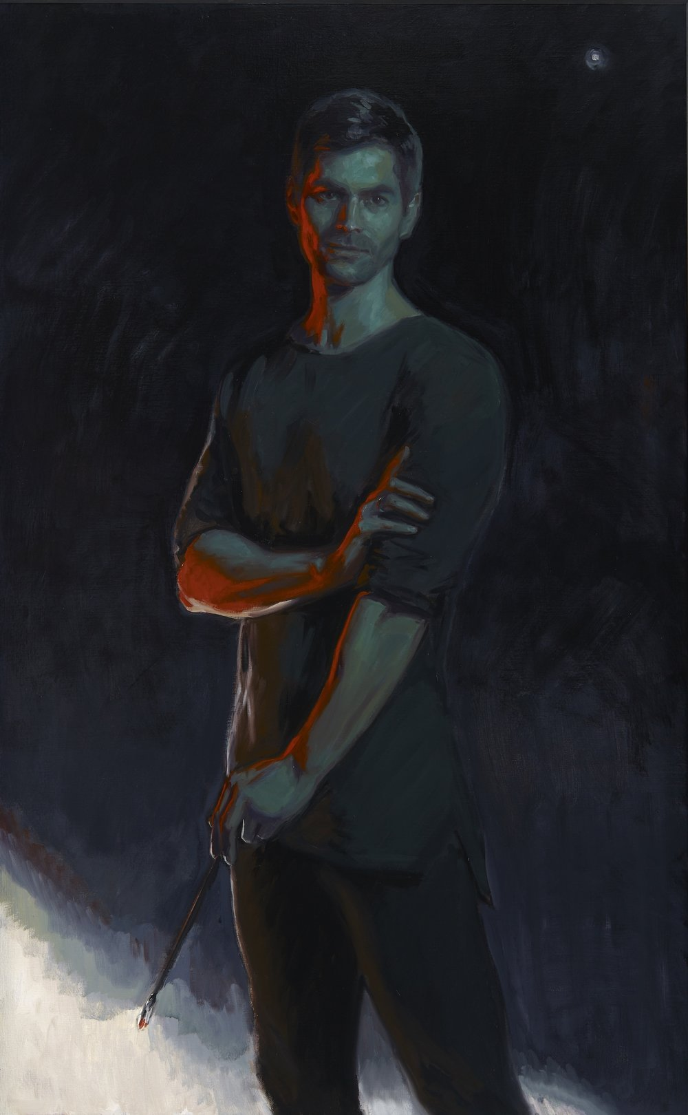 Self-Portrait,  Oil on Canvas, 85 x 145cm, 2017