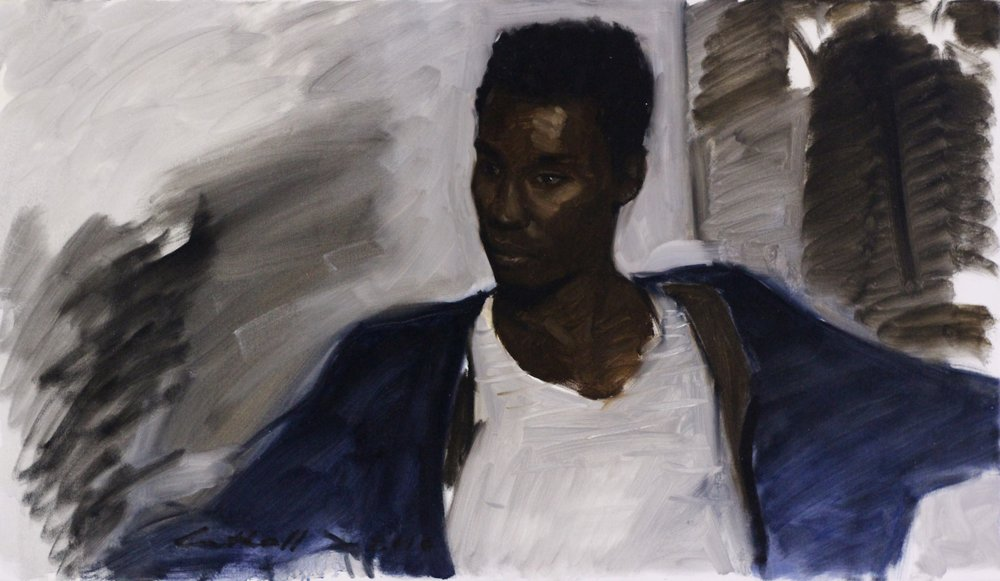 Nathan,  Oil on Canvas, 54 x 95cm, 2010
