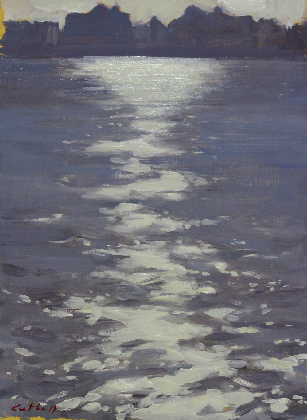 Thames,  Oil on Panel, 35 x 25cm, 2016
