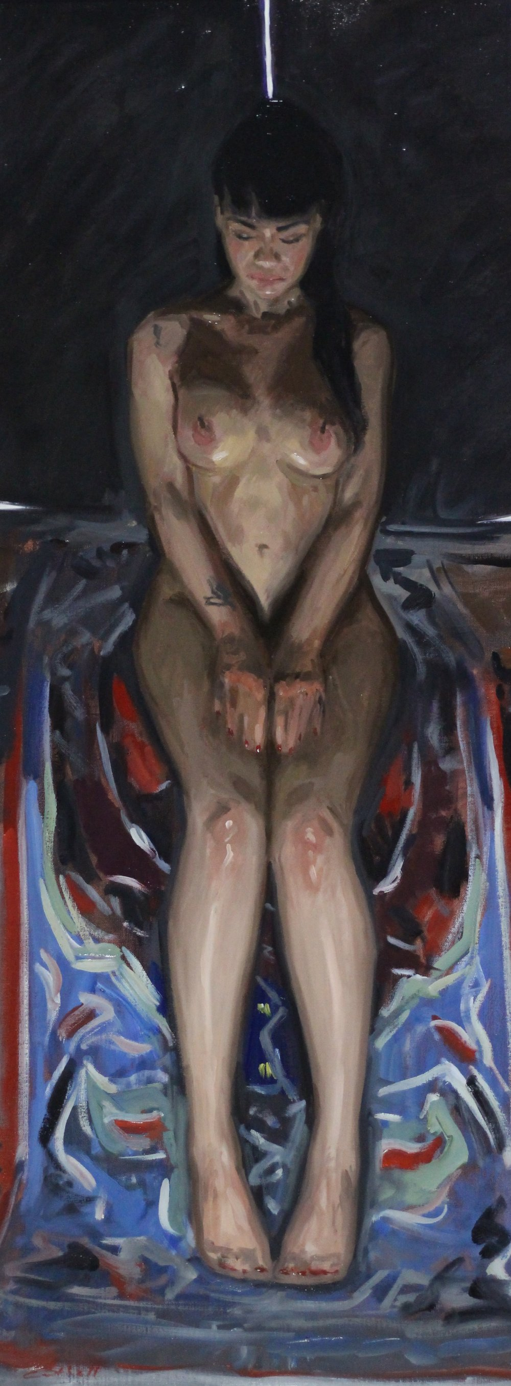 Carla,  Oil on Canvas, 105 x 40cm, 2017
