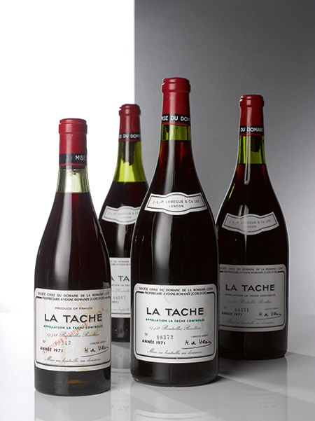 LOT 234. LA TACHE 1971 DOMAINE DE LA ROMANEE-CONTI (6 MAGNUMS). ESTIMATE $65,000–85,000.