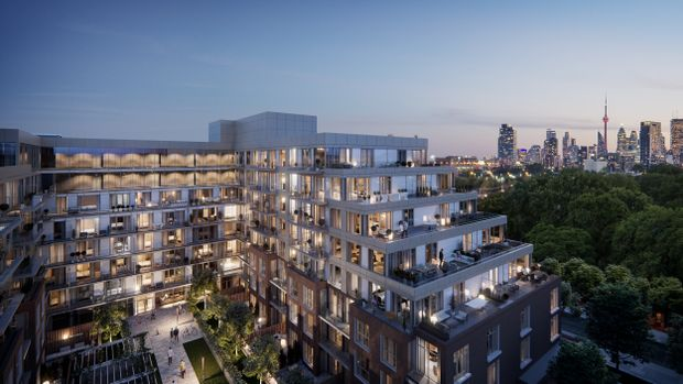 A rendering of the Wonder condo development in Toronto's Leslieville neighbourhood.