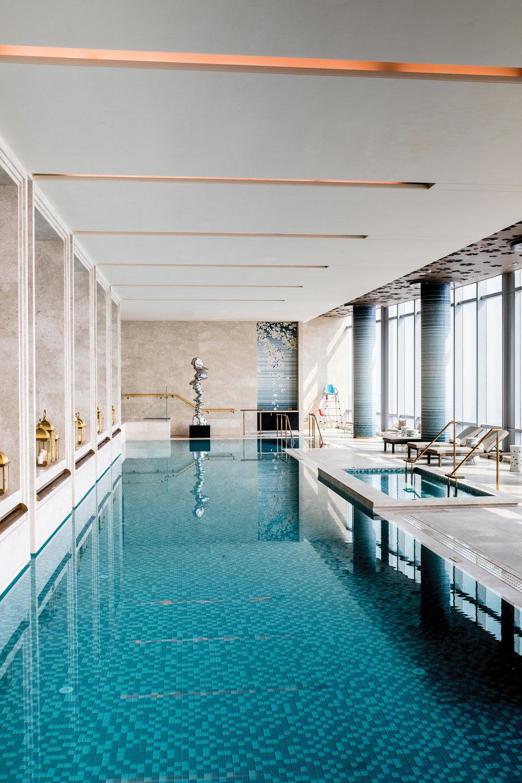 Waldorf Astoria Chengdu boasts a 25m pool on the 48th floor