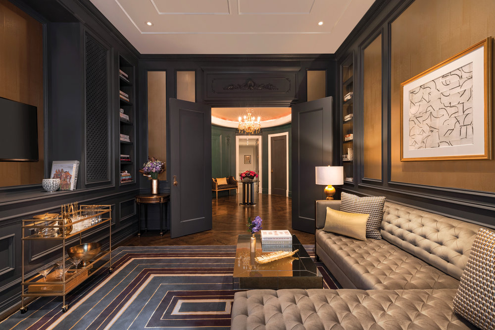 The grand 3 bedroom Royal Suite at the Plaza - a Fairmont-managed hotel in New York overlooks 5th Ave