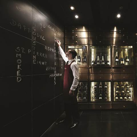- The Krug room at the Mandarin Oriental in Hong Kong offers an innovative menu.