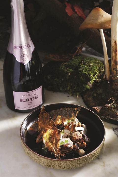 - A dish at the Krug Room.