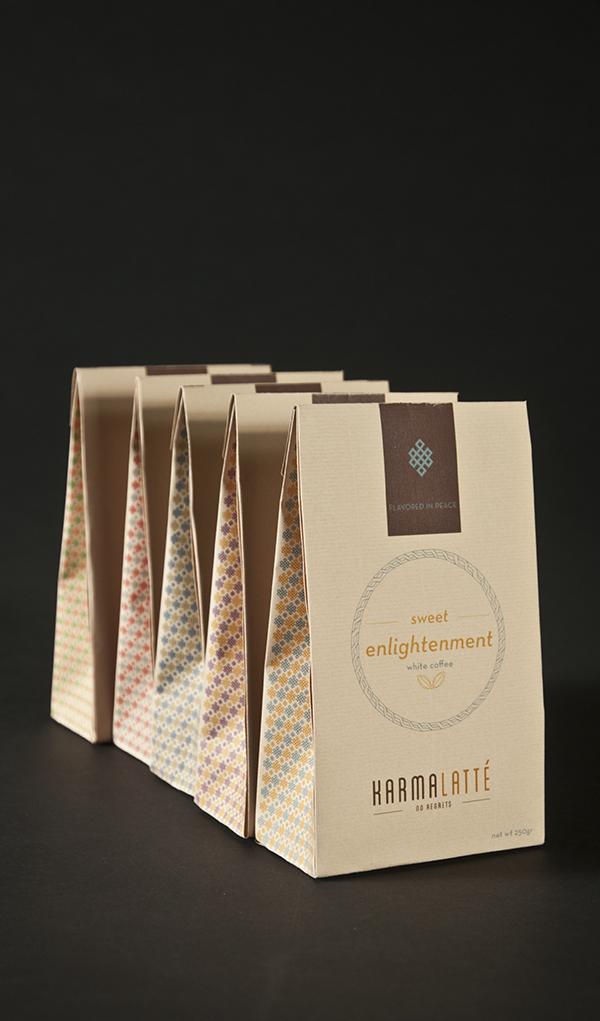 KARMALATTE Packaging, Branding
