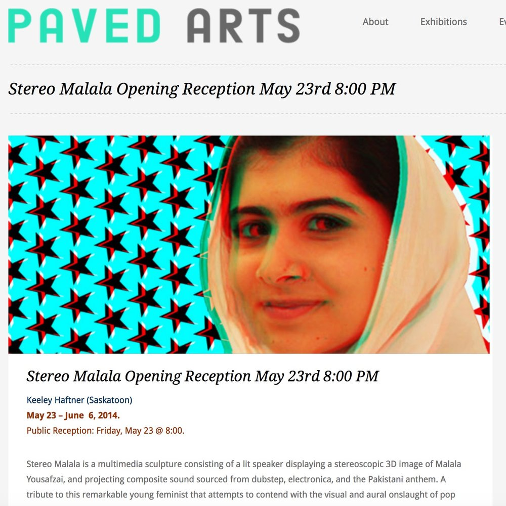 2014: Stereo Malala, PAVED Arts