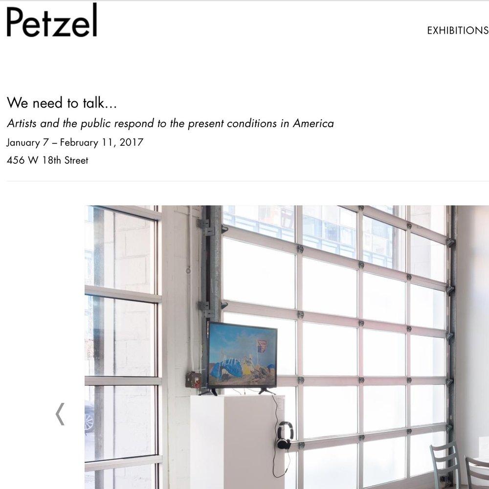 2017: We Need to Talk, Petzel