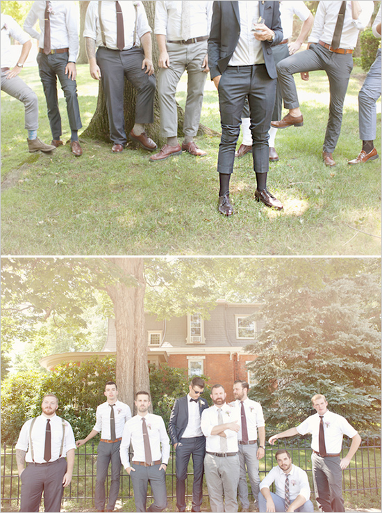 mis-matched groomsmen...love.