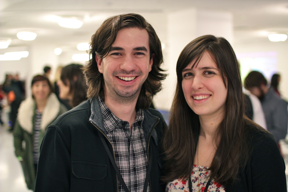 Michelle Ciotta with BlindSide co-developer Michael T. Astolfi at IndieCade 2013.