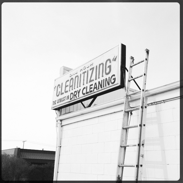 """Cleantizing"". Who wouldn't want to wash their clothes here."