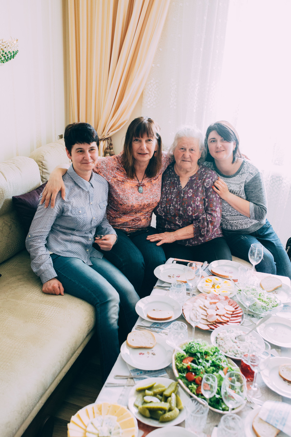Chervonograd. Marusia, Mom, Katya and Oksana.