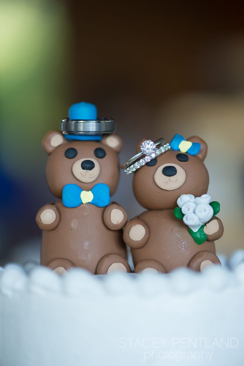Ginger made these UCLA Bruin cake toppers with her own creative hands.