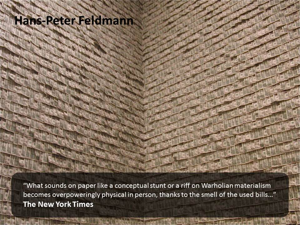 Hans-Peter Feldmann's Money Walls http://www.mymodernmet.com/profiles/blogs/guggenheim-museums-100000-room