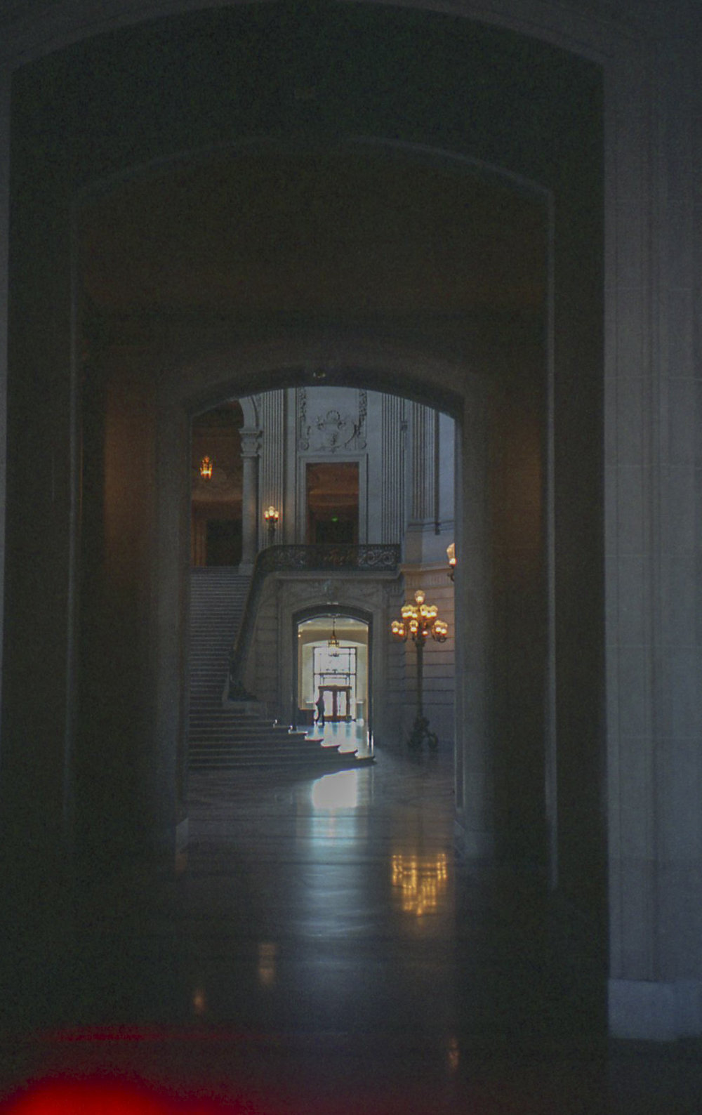 this is a photo of the inside of sf city hall. the two photos above this and the one below are also from city hall. what a beautiful building. this is one of my favorite photos from this trip.