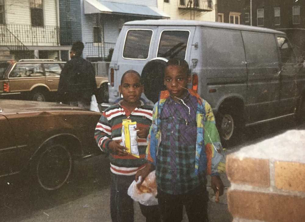1994, Ages 8 and 6, Holiday Avenue, Jersey City.
