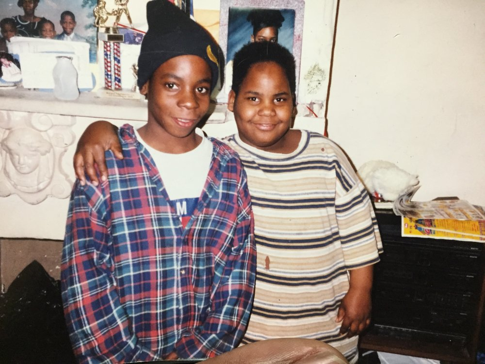 1996, Ages 10 and 8, Woodward Avenue, Jersey City.