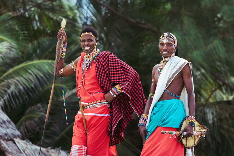 Massai Kenya Diani Beach wedding