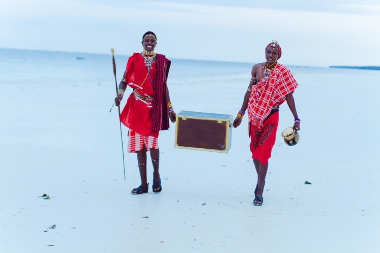 Massai Kenya Diani Beach Wedding ceremony