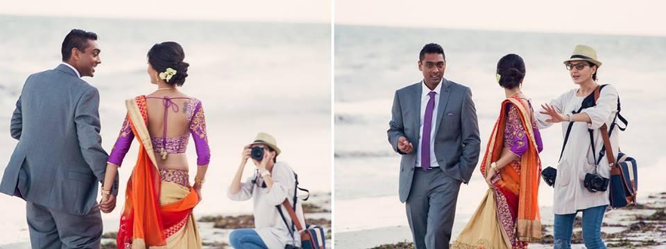 behind the screen - engagement photoshot with Lola Kolyada, owner of Maia Freia Photography, Mombasa, Kenya.