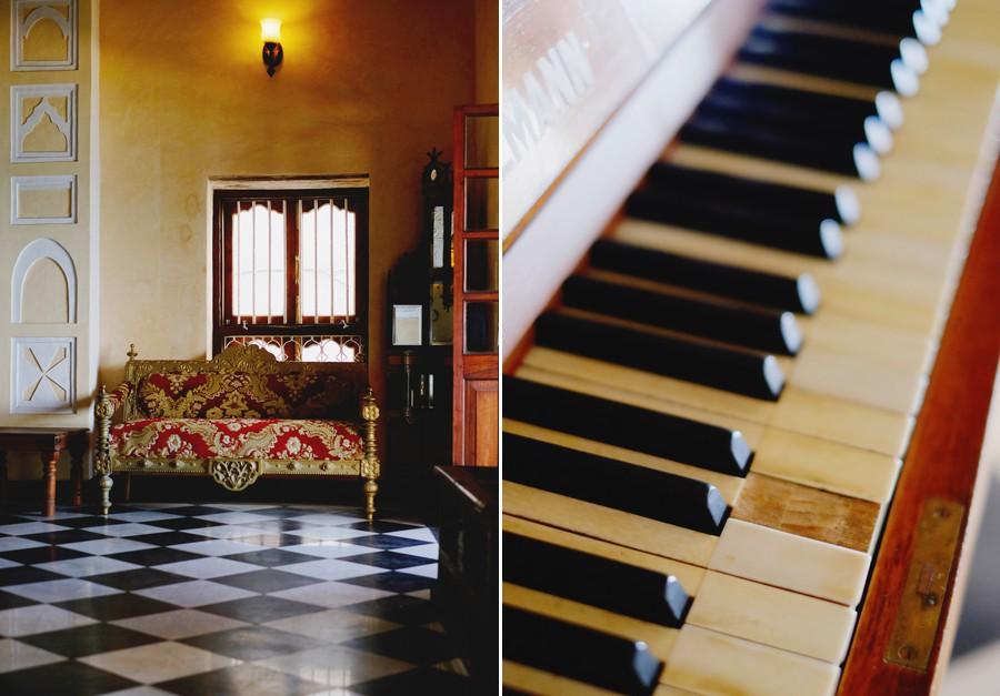 Mizingani Seafront Hotel Zanzibar old piano
