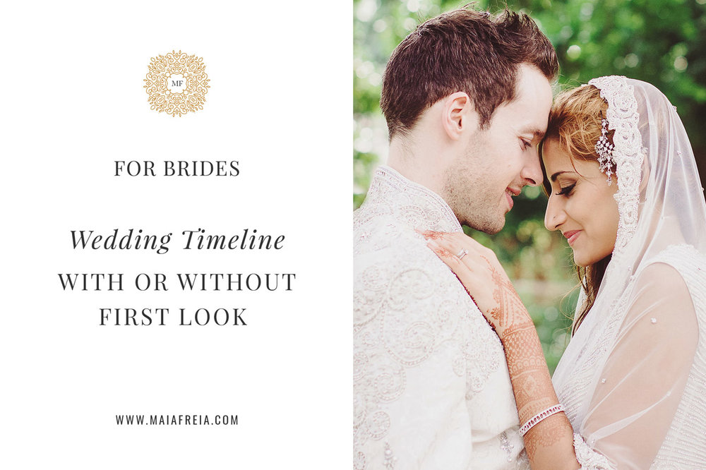 Wedding Day Timeline With Or Without First Look Maiafreia