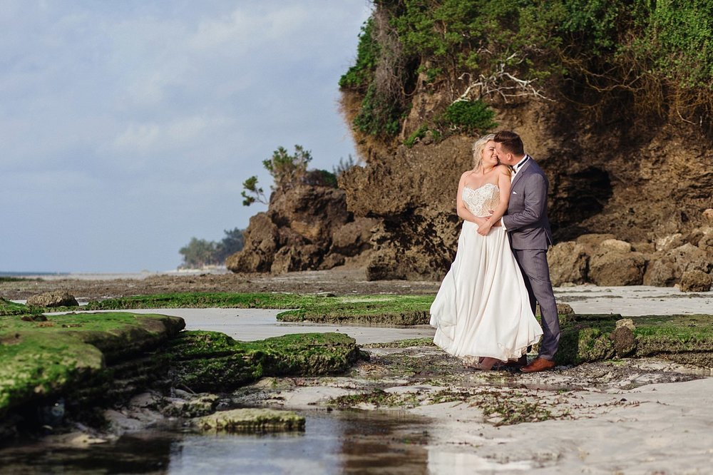 Honeymoon Couple Portraits in Mombasa Beach