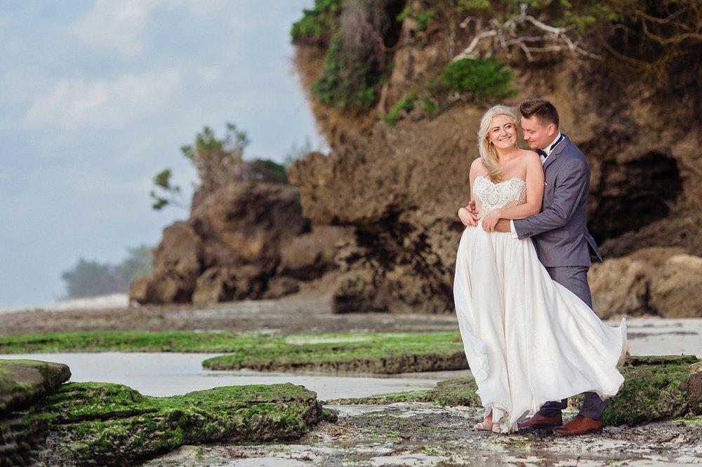 Honeymoon Couple Portraits in Mombasa Beach