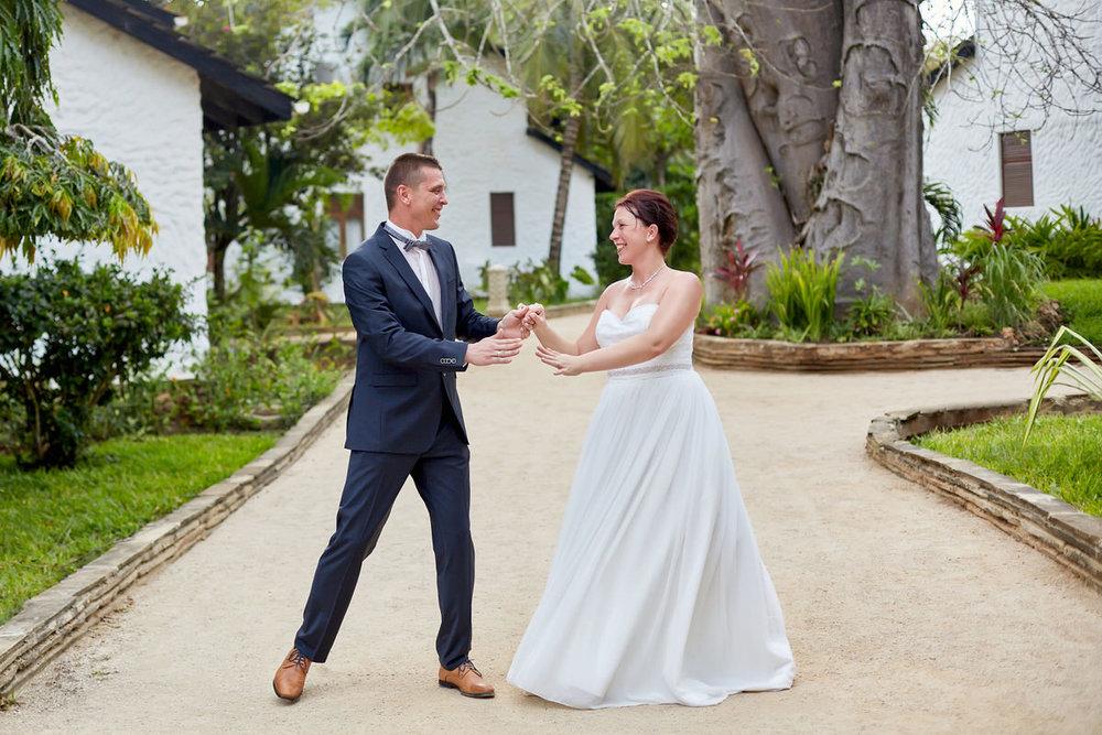Honeymoon Portraits in Diani Beach
