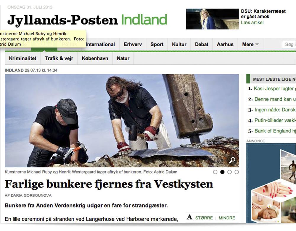 Morgenavisen JyllandsPosten var der også. Læs artiklen ved at klikke på billedet.