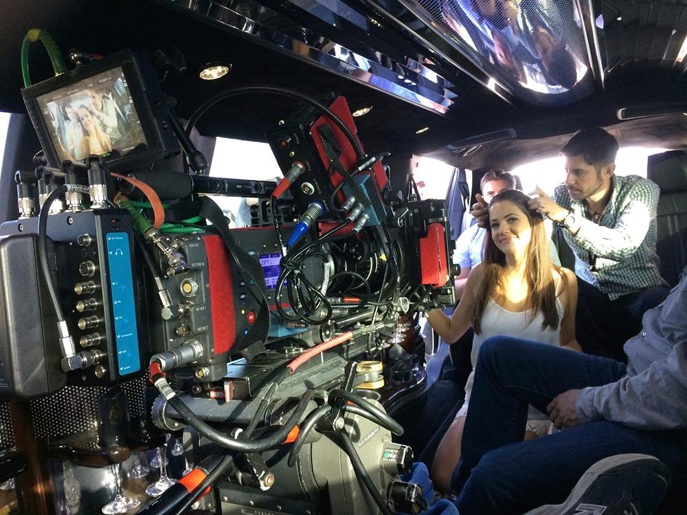 La Alexa durante el rodaje de Dallas.