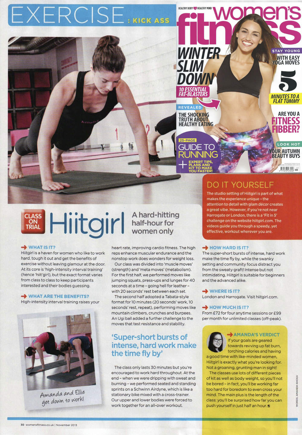 Women's Fitness, Nov 2013