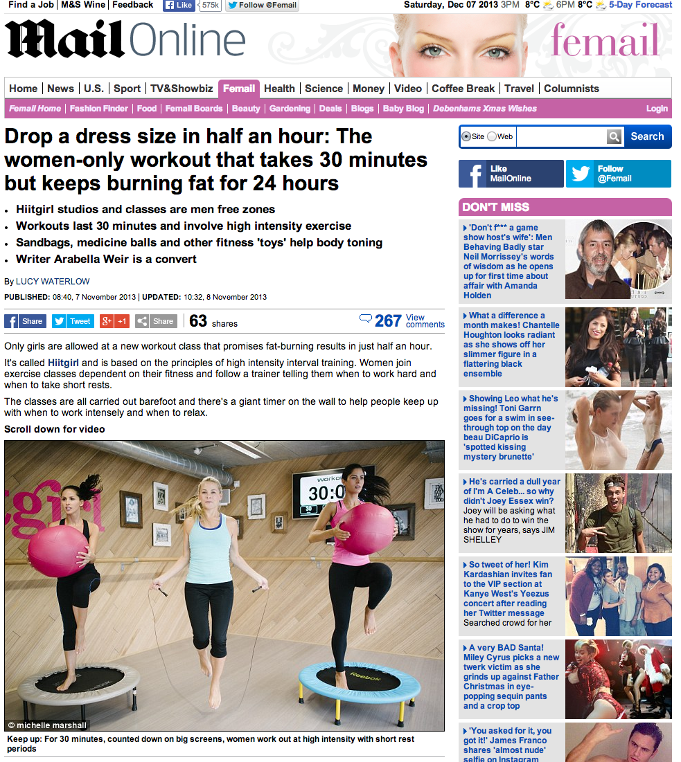 Daily Mail, Dec 2013