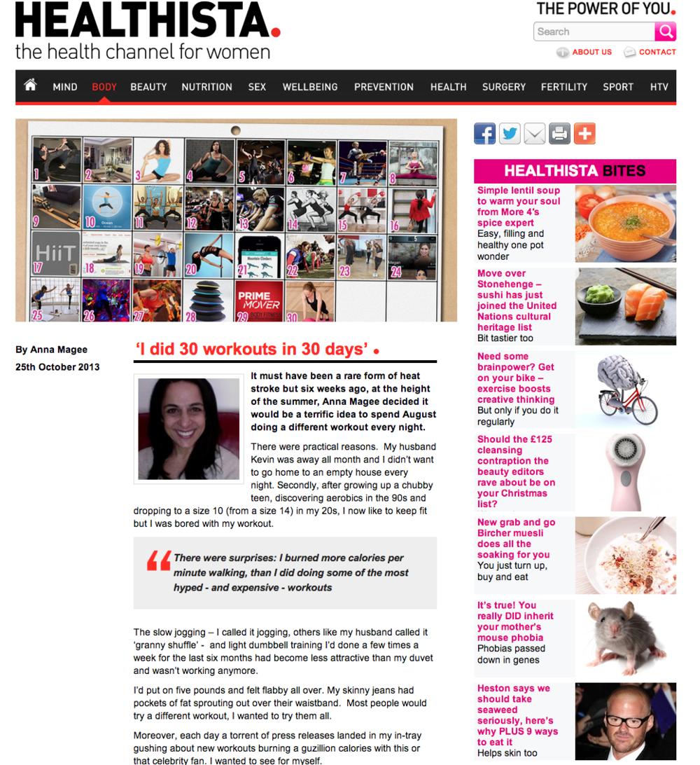 Healthista, Oct 2013