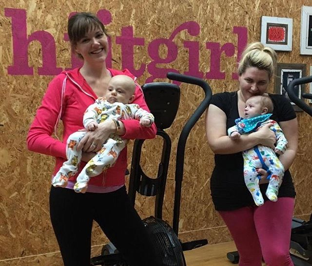 Helen & Trisha are back! New mums and already back into their Hiitgirl workouts. Girls you are amazing! #smallsteps #progress #newmums #fitmums #womensfitness #highgate #dowhatyoucan #priorities