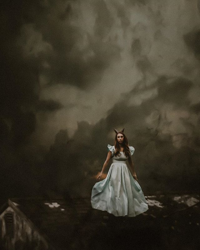 """But it's no use now,"" thought poor Alice, ""to pretend to be two people! Why, there's hardly enough of me left to make one respectable person!"" —Chapter 1, Down the Rabbit-Hole  _________________________________  Shot by @alealovely, Edit by me . . . . . . .  #cassandracastanedaphotography  #lookslikefilm #mystical #moodygrams #storyteller #wildwoman #featureacreature #sombresociety #magical #conceptualphotography #kccreative #spellbound #herefallsthenight #witchyvibes #conceptart #featuremeseas #dark_infinity #omd_5k #artistry_flair #ourmoodydays #thehub_mystica #blackraven_inspired #coceptual #themysterypr0ject #gloomy_side_views #gallery_of_dark_arts #eerie #wakethewitches #haunted"