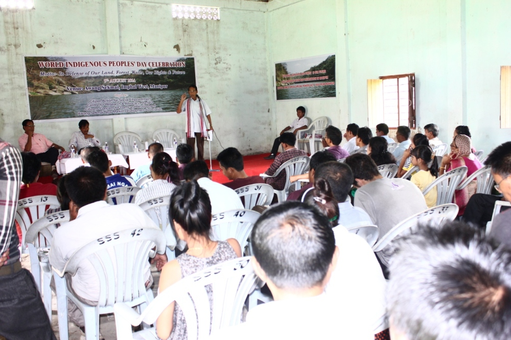 A gathering in honor of Indigenous Peoples' day in Manipur, India