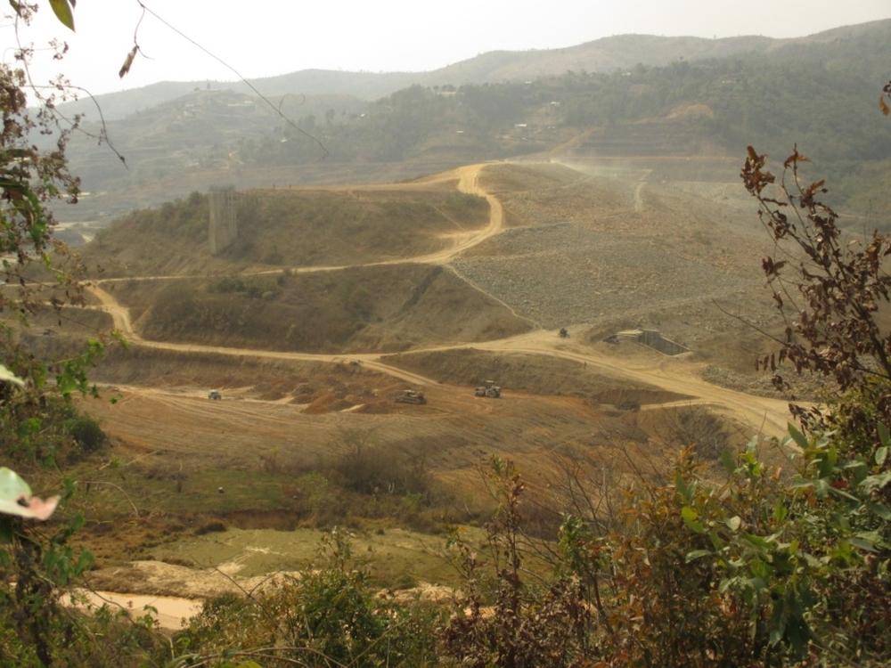 Filling up Mapithel dam Reservoir