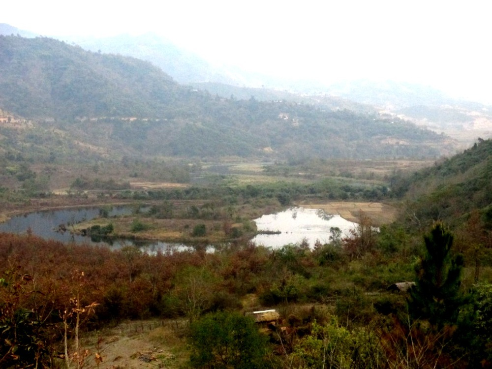 Rising Waters of Mapithel dam submerging agriculture land  in Chadong village