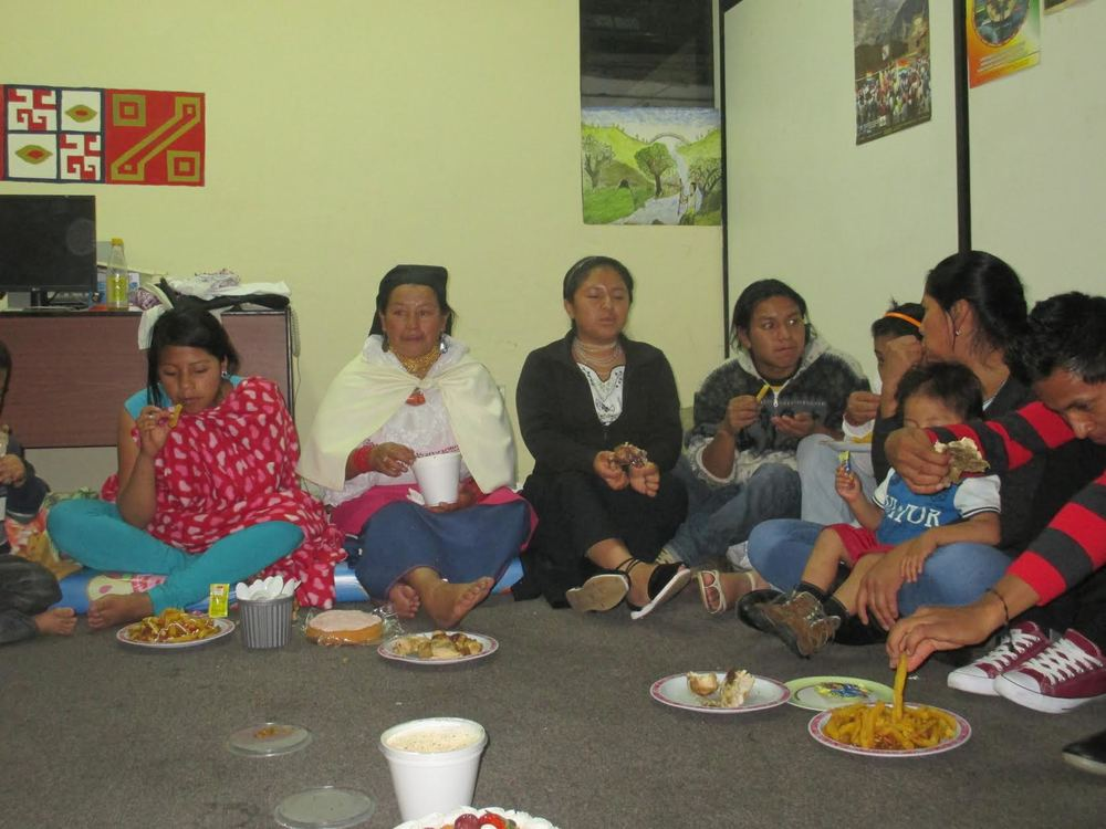 Kichwa Delegates from Otavalo at the CONAIE Offices in Quito
