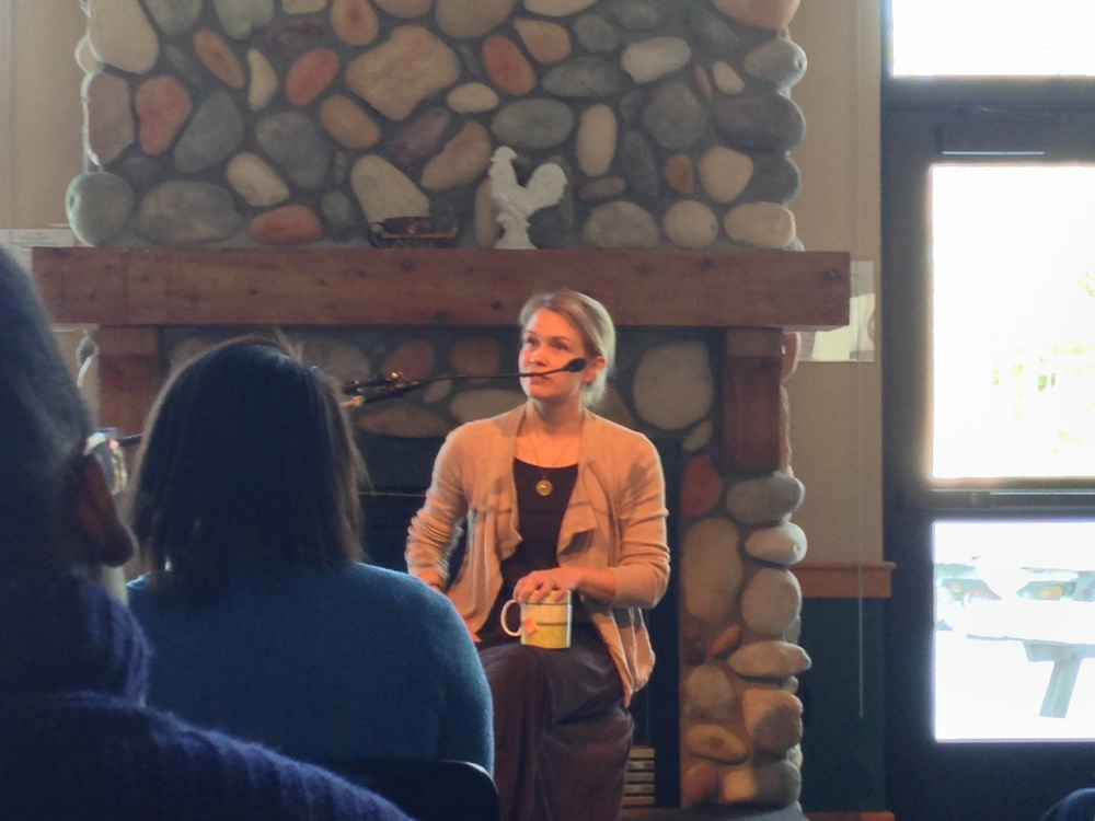 Megan Mayhew Bergman at Interlochen Arts Academy, March 2014.