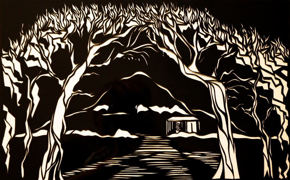 North Berwick Law (hand cut Tyvek).jpg