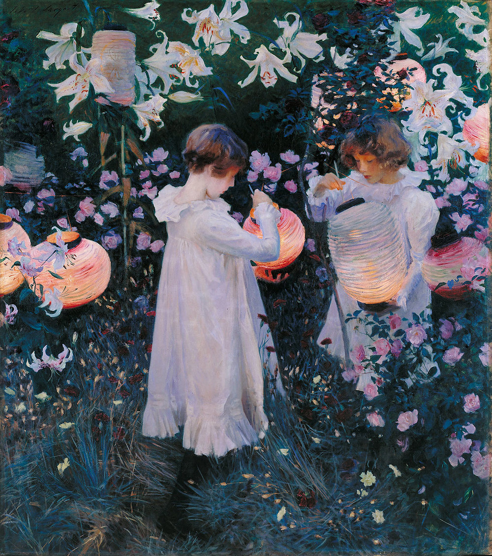 - John Singer Sargent: Carnation, Lily, Lily, Rose. Oil on Canvas.