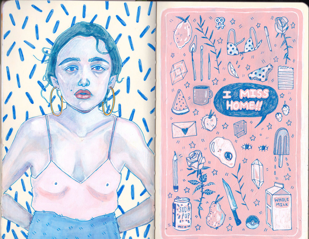Sketchbook spread 3