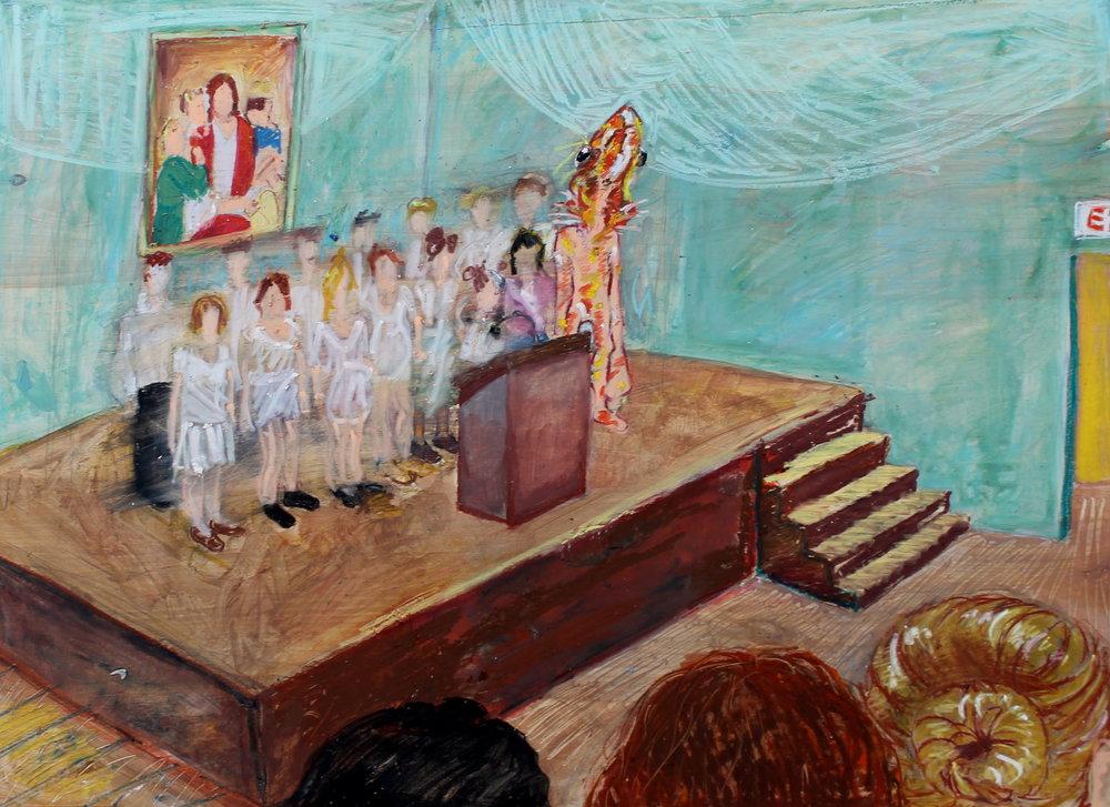 Standing in Choir