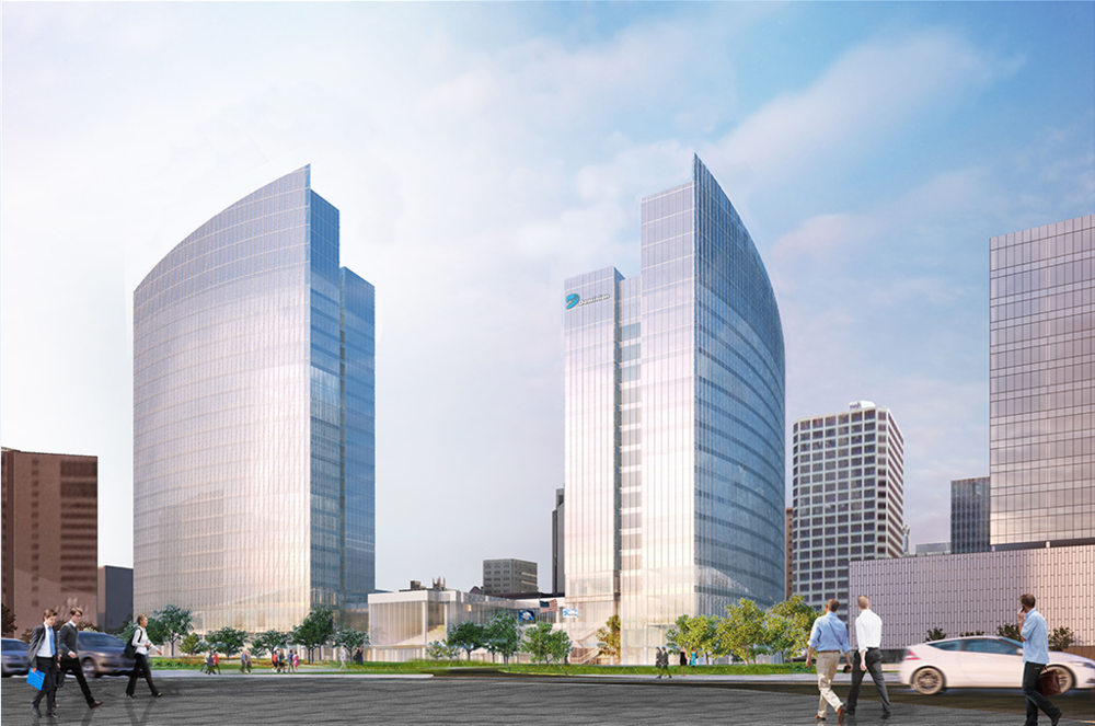 The new building will be a proud addition to Richmond's skyline, offering views of downtown and the James River.  A decision about the construction of a second tower (pictured) will be made in 2019.