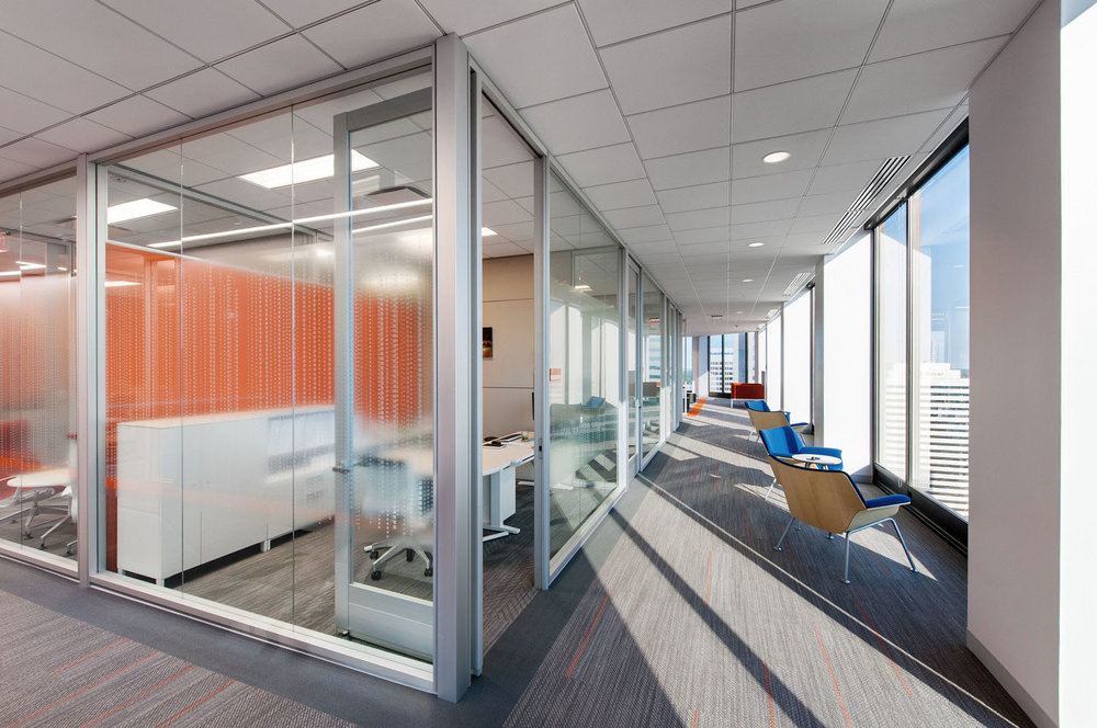Larger corridors with seating  = programmed circulation, getting more value per square foot